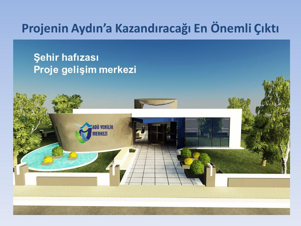 Projenin Aydın'a Kazandıracağı En Önemli Çıktı Şehir hafızası Proje gelişim merkezi