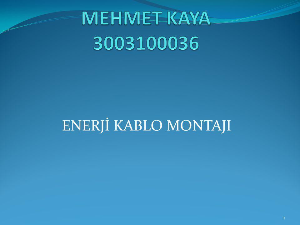ENERJİ KABLO MONTAJI 1