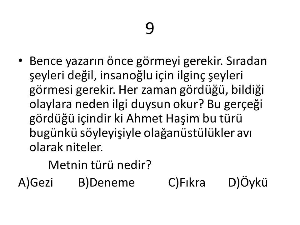 10 Bahtiyar Vahapzade daha çok şiirleriyle tanınan Azeri bir sanatçıdır.