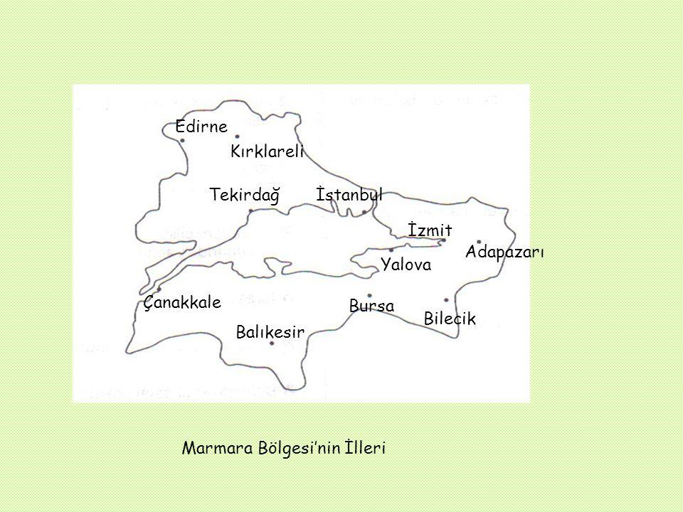 Coğrafi Konumu Marmara Bölgesi ülkemizin kuzeybatı köşesinde yer alan, yüzölçümü bakımından altıncı büyük bölgemizdir. Yaklaşık olarak 66.000 km² alan