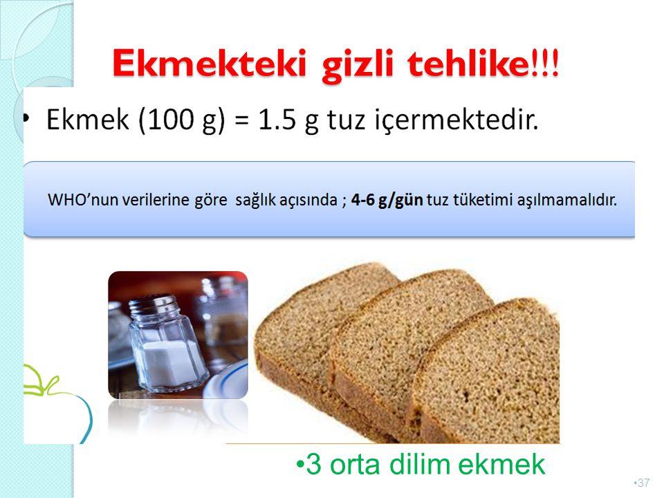 Ekmekteki gizli tehlike!!! 37 3 orta dilim ekmek