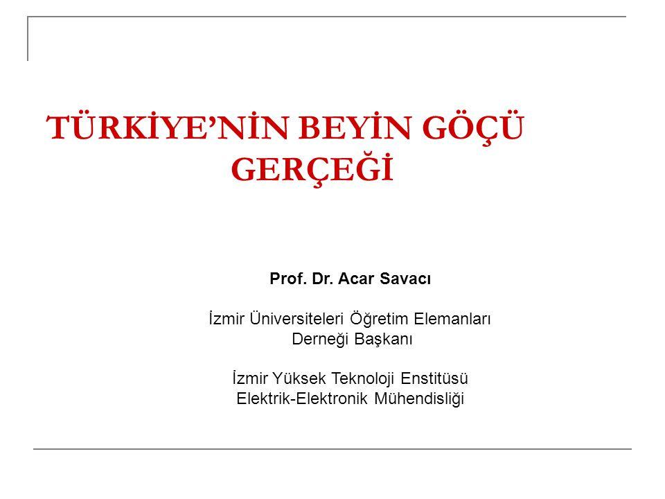 Türkiye'den Beyin Göçünün Nedenleri YÖK'ün hazırladığı bir rapora göre 24 bini Almanya'da, 15 bini ABD'de olmak üzere 50 binden fazla Türk genci yurt dışında eğitim görmektedir.