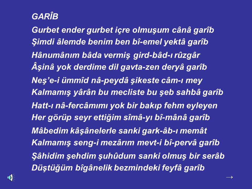 Tasavvuf ve edebiyat dünyamızın anıt ismi Abdülbâkî Gölpınarlı (1900-1982) hocamızdan kendi sesiyle Garîb şiiri