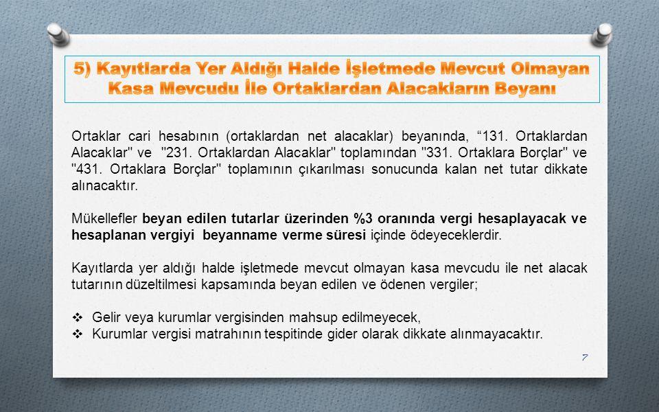 18  Tahsilinden Vazgeçilen Alacaklar;  Maddenin on dördüncü fıkrasının (a) bendinde a) 7/11/1996 tarihli ve 4207 sayılı Tütün Ürünlerinin Zararlarının Önlenmesi ve Kontrolü Hakkında Kanunun 5 inci maddesinin birinci fıkrası ile 30/3/2005 tarihli ve 5326 sayılı Kabahatler Kanununun 39 uncu maddesine göre verilen idari para cezaları hariç olmak üzere, 31/12/2013 tarihinden (bu tarih dâhil) önce idari yaptırım kararı verildiği hâlde bu Kanunun yayımlandığı tarih itibarıyla ilgilisine tebliğ edilmemiş olan ve genel bütçeye gelir kaydı gereken ve her bir kabahat için 120 Türk lirasının (bu tutar dâhil) altında kalan idari para cezaları tebliğ edilmez, tebliğ edilmiş olanların ve bunlara bağlı ferî alacakların tahsilinden vazgeçilir.