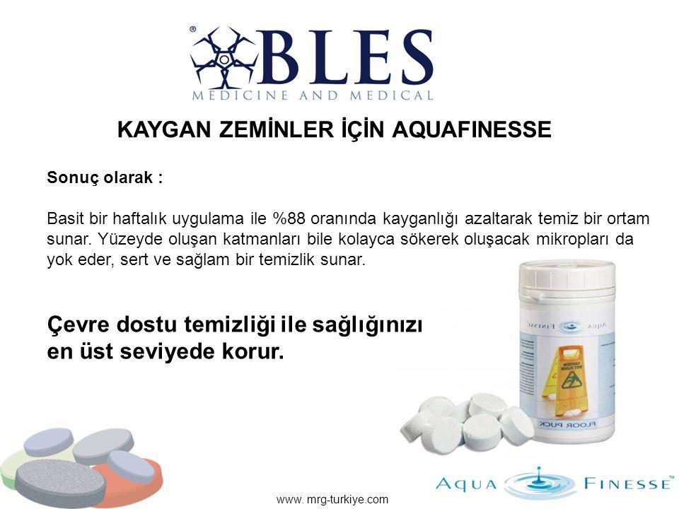 www. mrg-turkiye.com Sonuç olarak : Basit bir haftalık uygulama ile %88 oranında kayganlığı azaltarak temiz bir ortam sunar. Yüzeyde oluşan katmanları