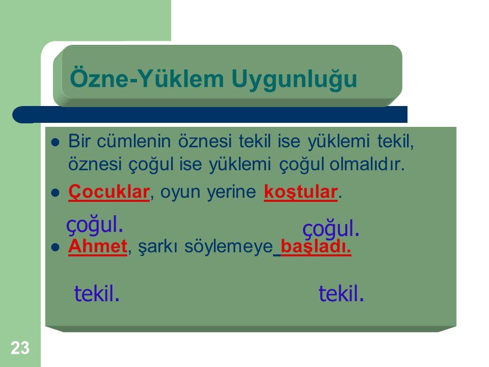 """22 Atatürk,vatanımızı kurtarmak için Samsun'a çıktı. İş hareket bildiren sözcük """"çıktı""""dır. Kim çıktı ?Diye sorduğumuzda """"Atatürk"""" cevabını alıyoruz."""