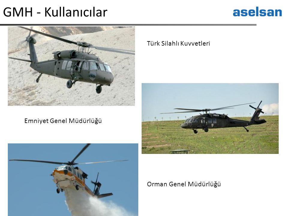 GMH - Kullanıcılar Türk Silahlı Kuvvetleri Emniyet Genel Müdürlüğü Orman Genel Müdürlüğü