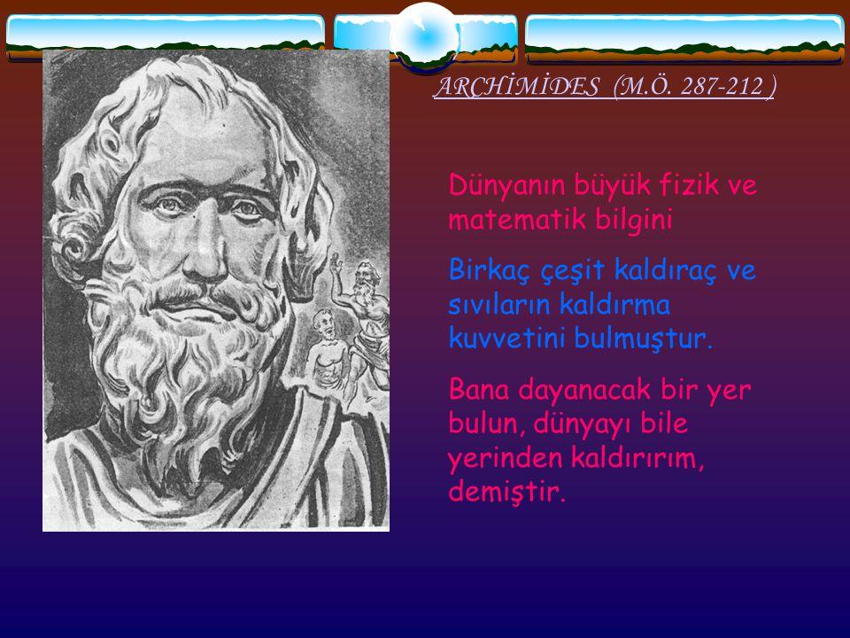ARCHİMİDES (M.Ö.