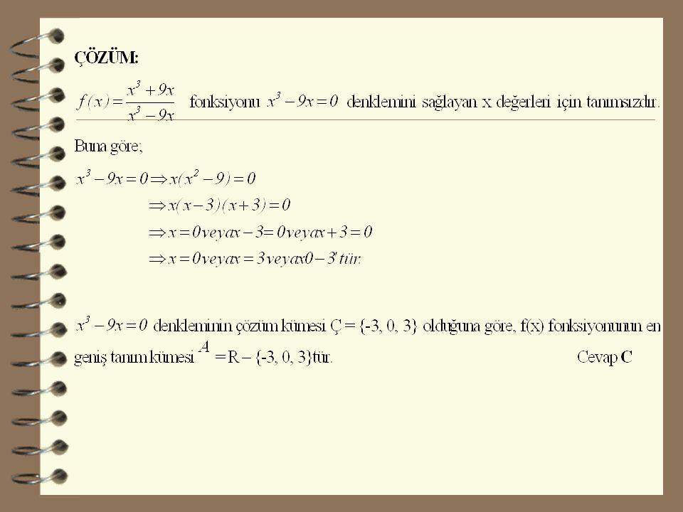 2.Rasyonel Fonksiyonların Tanım Kümesi şeklindeki rasyonel fonksiyonlar Q(x) = 0 için tanımsızdır.