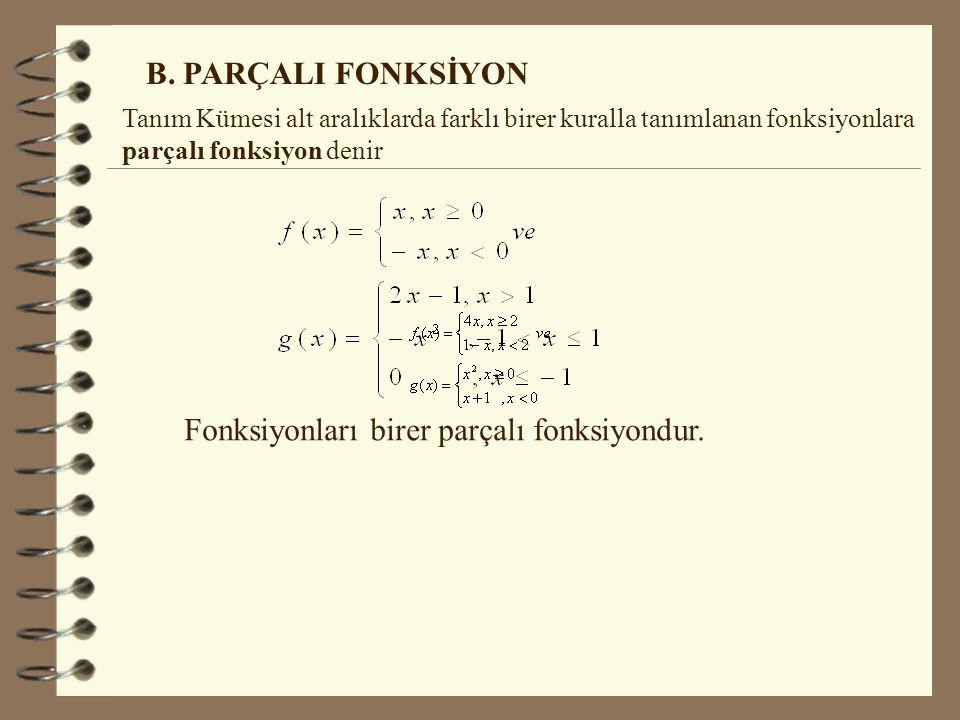 4.Tek Dereceden Köklü Fonksiyonların Tanım Kümesi n bir pozitif tamsayı olmak üzere, f(x)= Fonksiyonunun g(x)in tanımlı olduğu her yerde tanımlıdır.