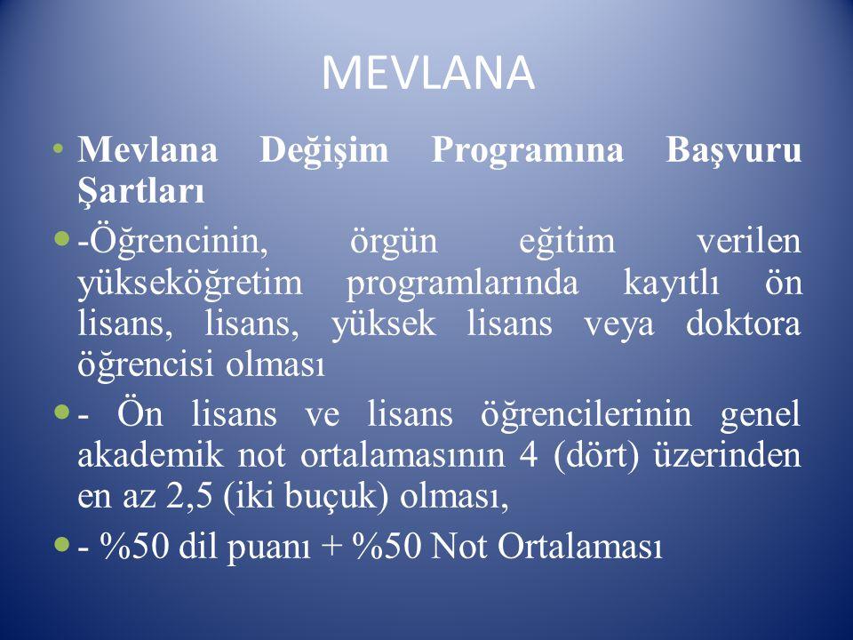 Sınavda kopya çeken ve disiplin cezası alan öğrenciler ERASMUS ve MEVLANA değişim programlarına başvuramazlar.