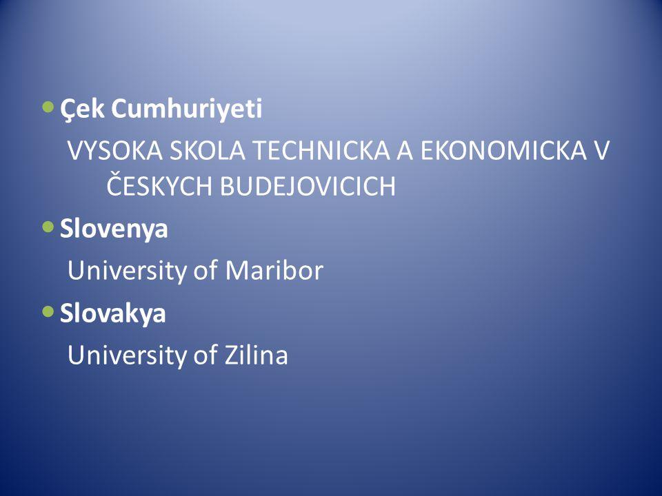 Anlaşmamız bulunduğu üniversiteler Avusturya Paedagogische Hochschule Kaernten İtalya Academy School S.R.L Polonya 1-Akademıa Humanistyczno- Ekonomicz
