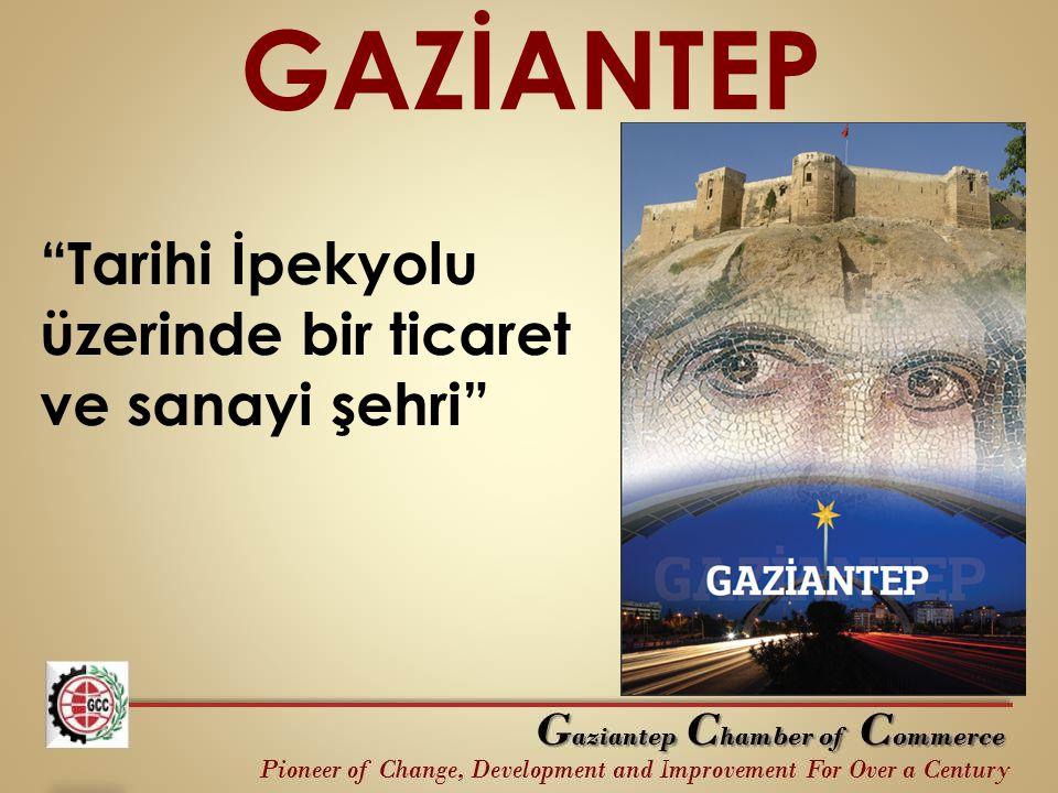 """GAZİANTEP """"Tarihi İpekyolu üzerinde bir ticaret ve sanayi şehri"""""""