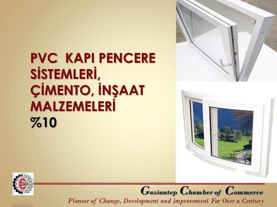 PVC KAPI PENCERE SİSTEMLERİ, ÇİMENTO, İNŞAAT MALZEMELERİ %10