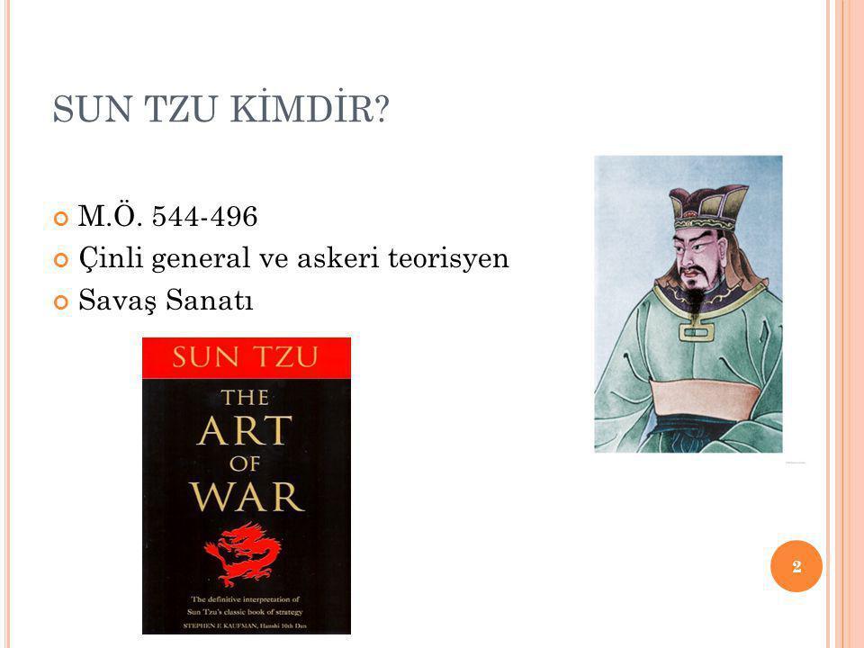 SUN TZU KİMDİR? M.Ö. 544-496 Çinli general ve askeri teorisyen Savaş Sanatı 2
