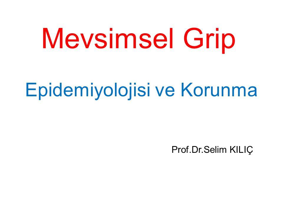 Mevsimsel Grip Epidemiyolojisi ve Korunma Prof.Dr.Selim KILIÇ