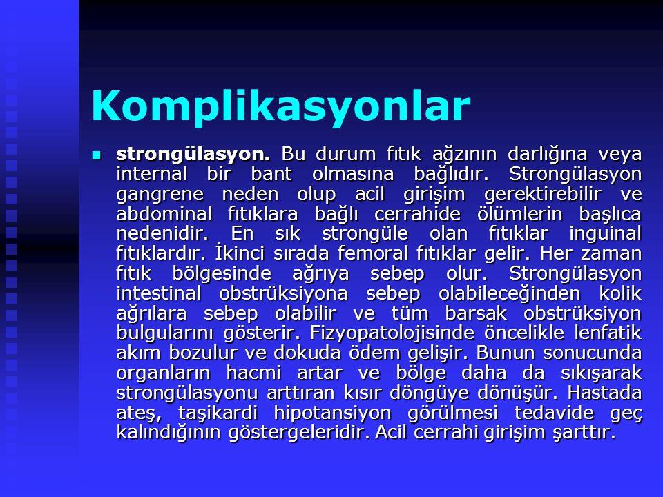 Komplikasyonlar strongülasyon.