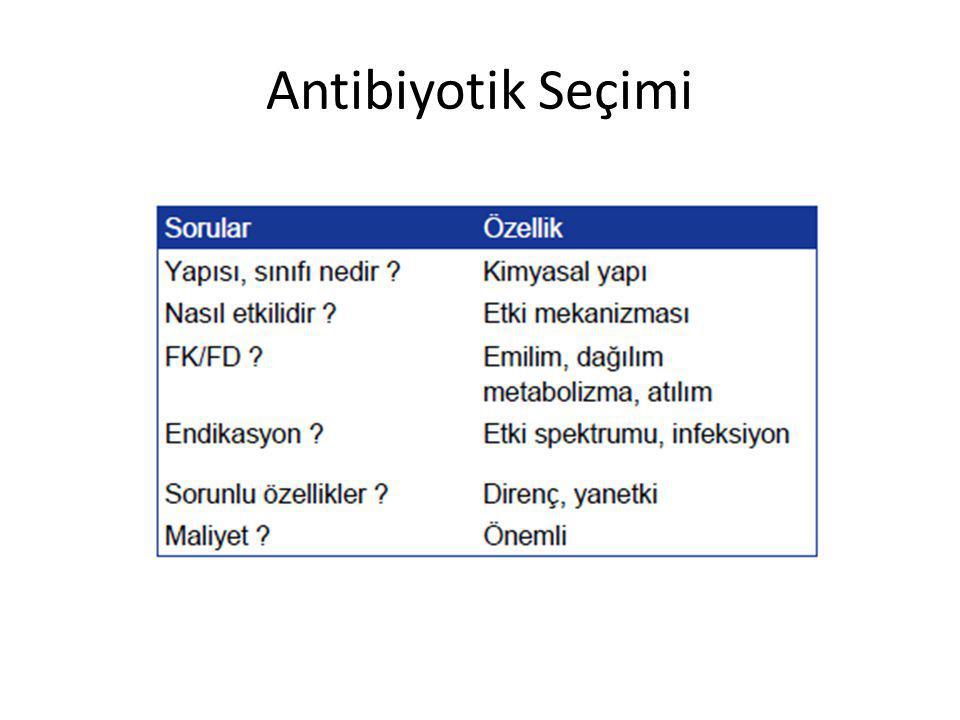 Antibiyotik Seçimi