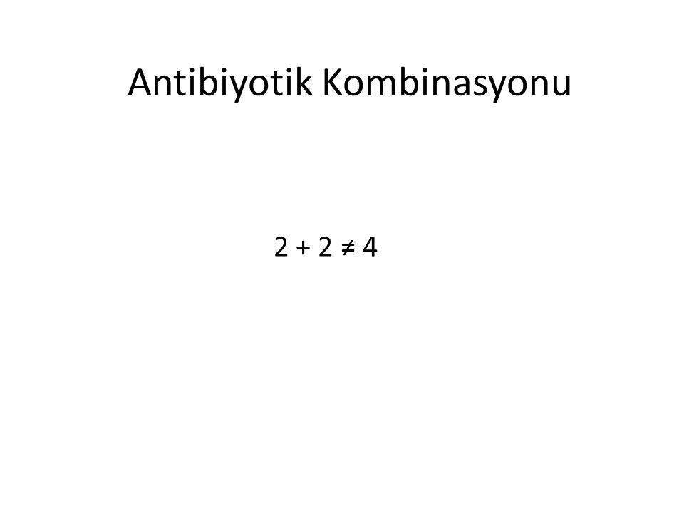 Antibiyotik Kombinasyonu 2 + 2 ≠ 4