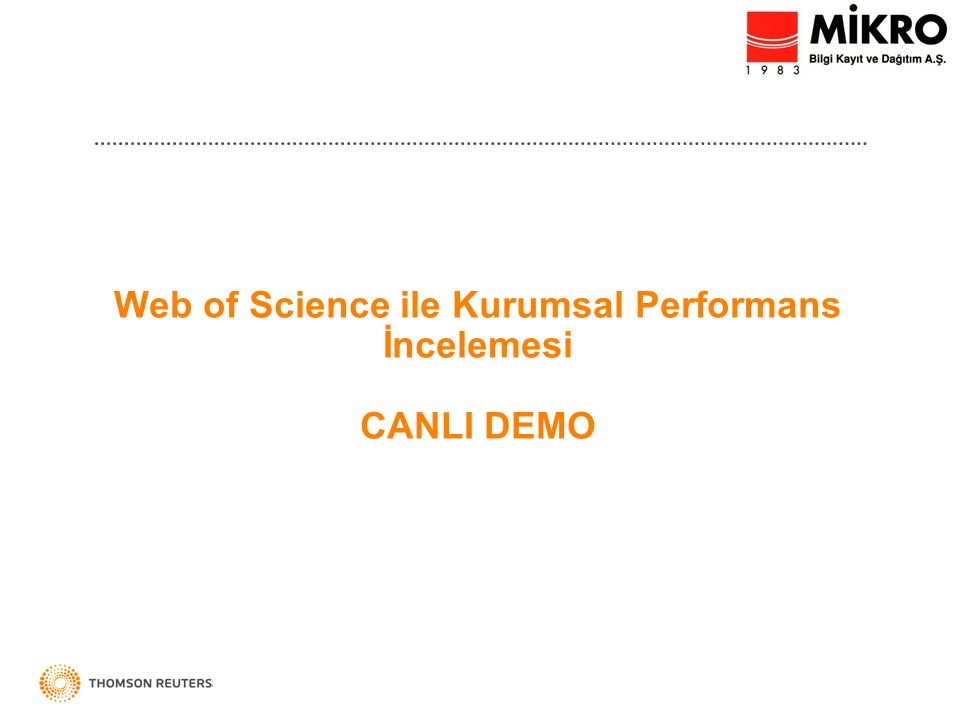 INCITES TM Kurumsal Performans İncelemesinde Uzman Çözüm