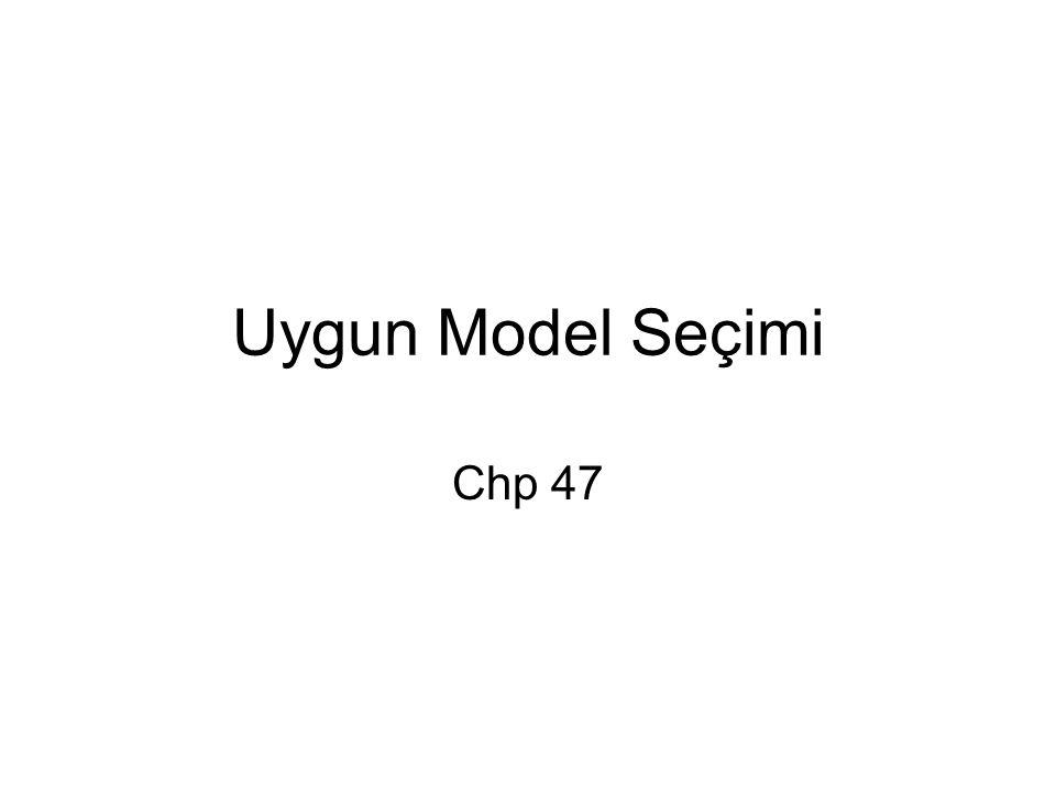 Uygun Model Seçimi Chp 47