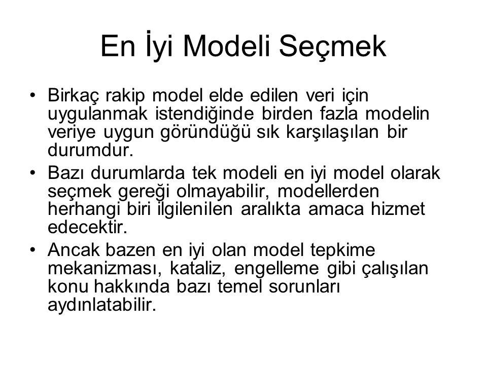 En İyi Modeli Seçmek Birkaç rakip model elde edilen veri için uygulanmak istendiğinde birden fazla modelin veriye uygun göründüğü sık karşılaşılan bir