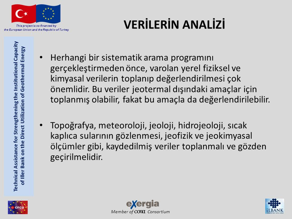 Member of Consortium This project is co-financed by the European Union and the Republic of Turkey VERİLERİN ANALİZİ Herhangi bir sistematik arama prog