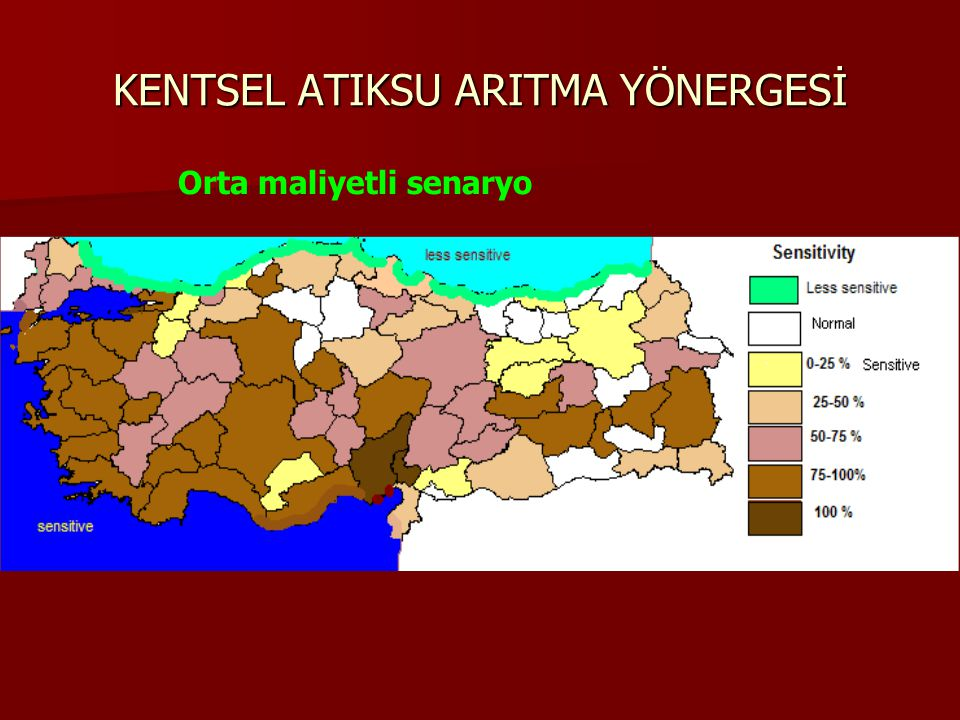 KENTSEL ATIKSU ARITMA YÖNERGESİ Orta maliyetli senaryo
