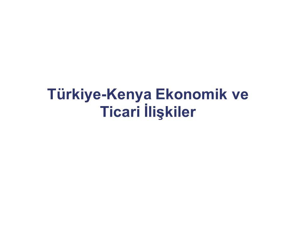 Sanayi  Kenya Üreticiler Derneği (KAM) Gıda ürünlerinin işlenmesi ve ambalajlanması, plastik, kağıt, çimento, konfeksiyon, otomotiv yedek parça  Nairobi Sanayi Bölgeleri Industrial area, Mombasa Road  Kenya'nın Gelişmiş Ülkeler ile Ticaret Yapısı (Tarım ürünlerinin ihracatı, sanayi ürünleri ithalatı)  Kenya'nın komşusu Ülkelerle Ticaret Yapısı (Rafine edilmiş petrol, çimento, demir ve çelik, plastik, makine, ilaç ve otomotiv sektörü gibi ağırlıklı sanayi ürünleri ihracatı; tarım ürünleri ithalatı)