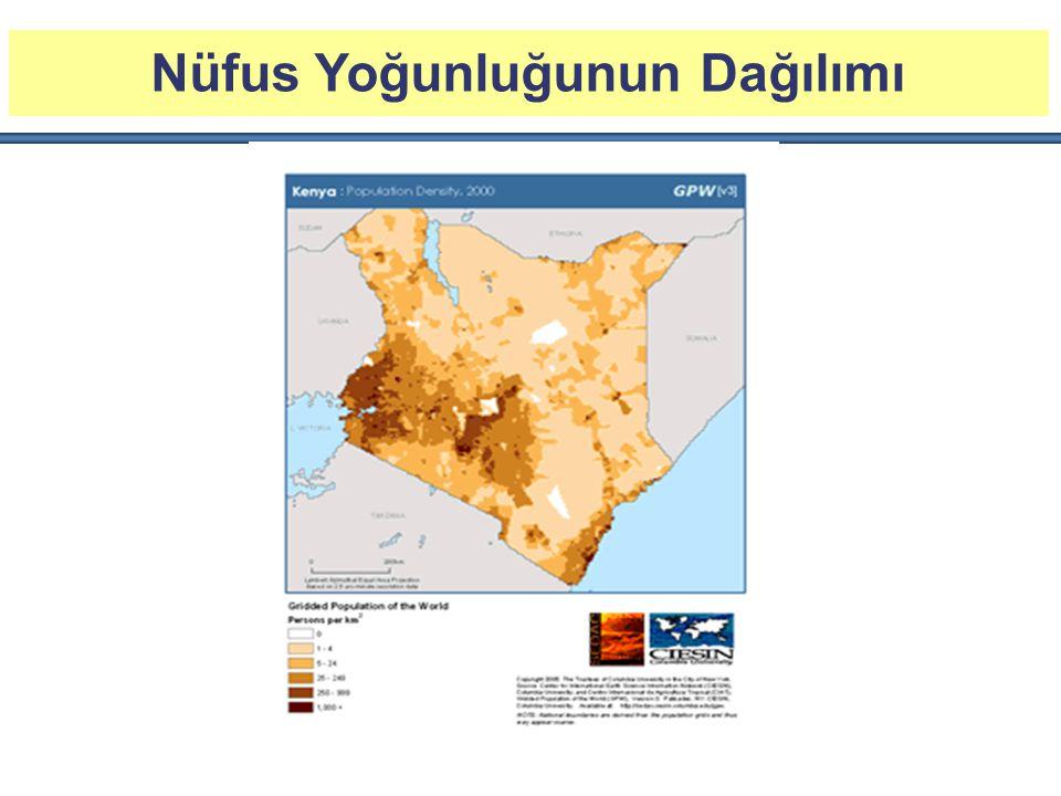 Belli Başlı Şehirler* Nairobi: 3,8 Milyon Mombasa : 1,1 Milyon Nakuru: 323 Bin Kisumu : 292 Bin Eldoret: 284 Bin * Nüsuf verileri 2009 yılı nüfus verilerinin genel nüfus artışı oranında artılrılması ile tahmini olarak elde edilmiştir.