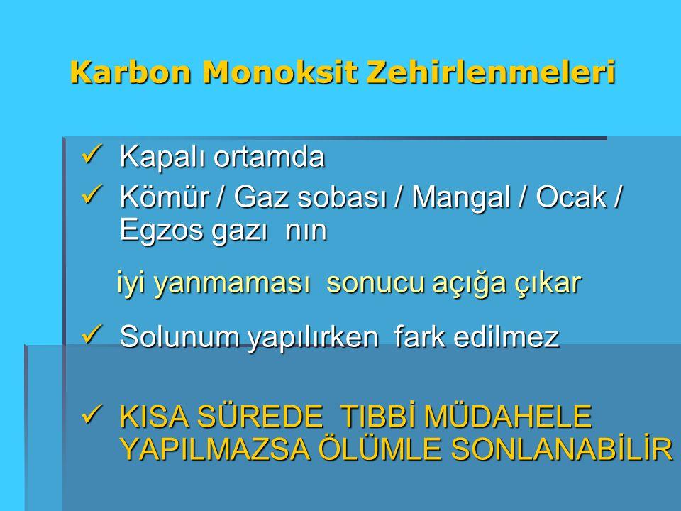 Kapalı ortamda Kapalı ortamda Kömür / Gaz sobası / Mangal / Ocak / Egzos gazı nın Kömür / Gaz sobası / Mangal / Ocak / Egzos gazı nın iyi yanmaması so