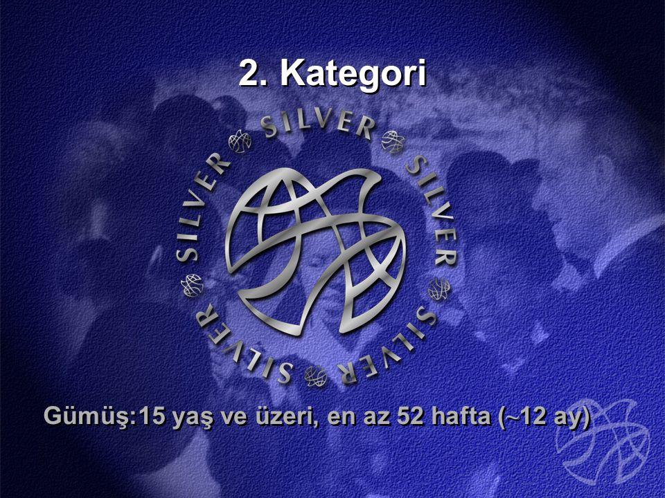 2. Kategori Gümüş:15 yaş ve üzeri, en az 52 hafta ( ~ 12 ay)