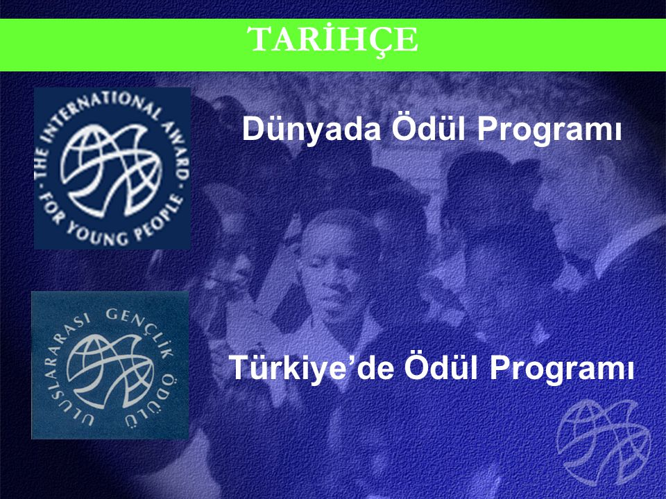 TARİHÇE Dünyada Ödül Programı Türkiye'de Ödül Programı