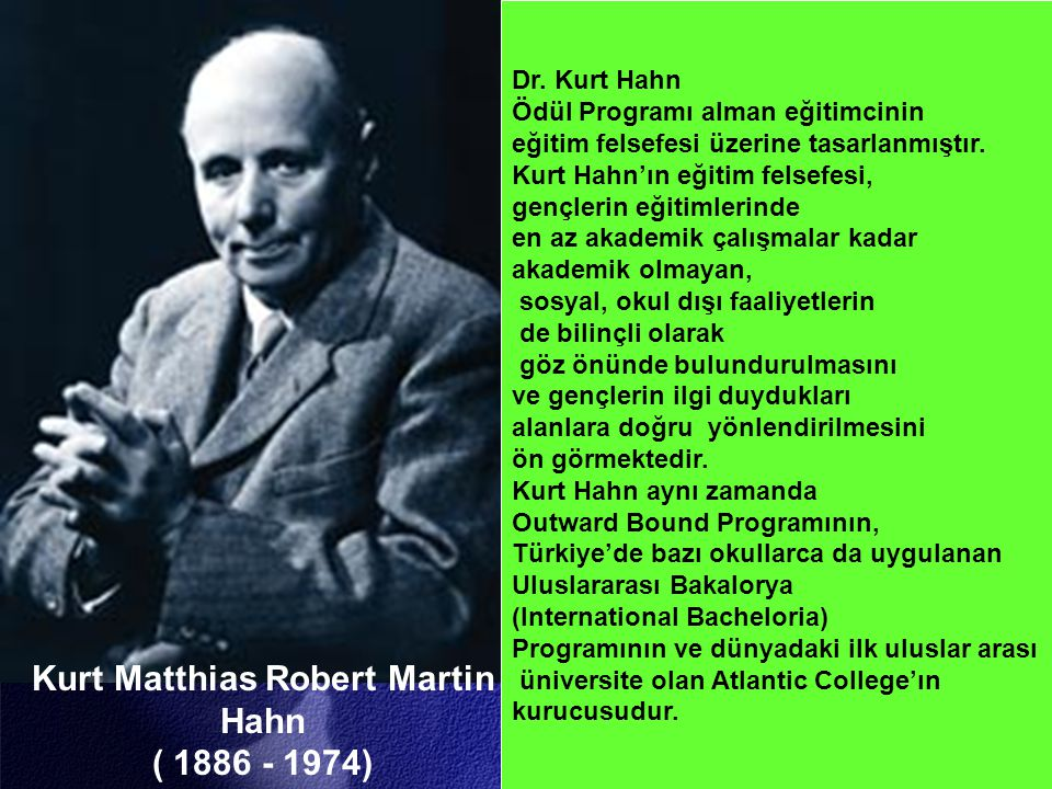 Kurt Matthias Robert Martin Hahn ( 1886 - 1974) Dr.