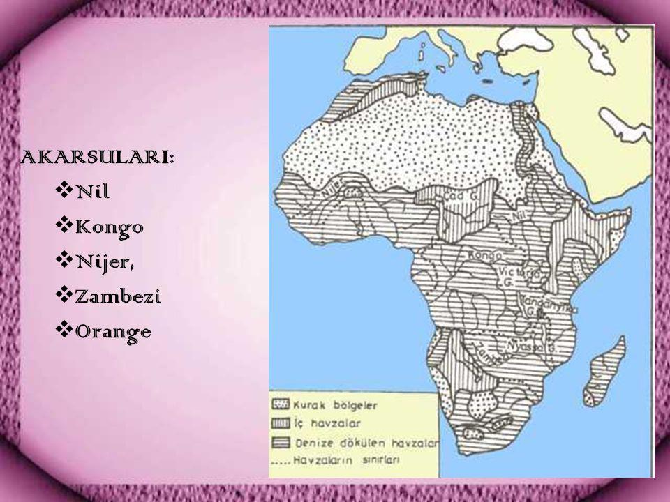 AKARSULARI:  Nil  Kongo  Nijer,  Zambezi  Orange