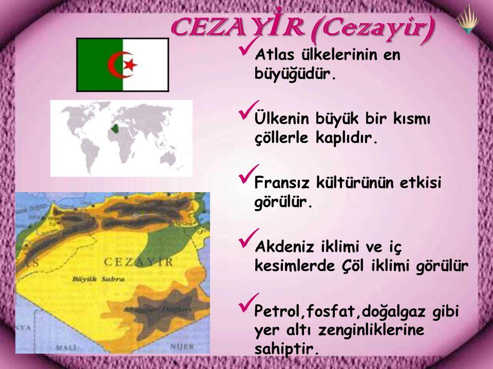 CEZAY İ R (Cezayir) CEZAY İ R (Cezayir) Atlas ülkelerinin en büyüğüdür.