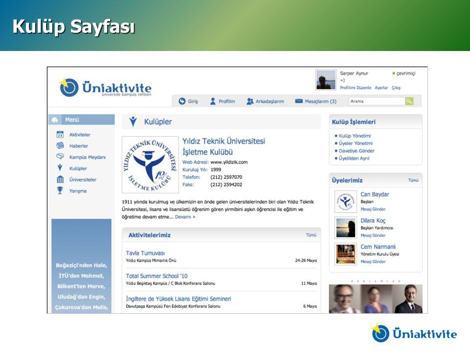 Kulüp Sayfası