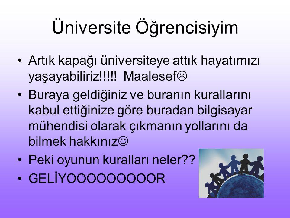 Nasıl Öğrenci Olun? ur : maz Fatih Üniversitesi Bilgisayar Mühendisliği Bölümü 23 Kasım 2014