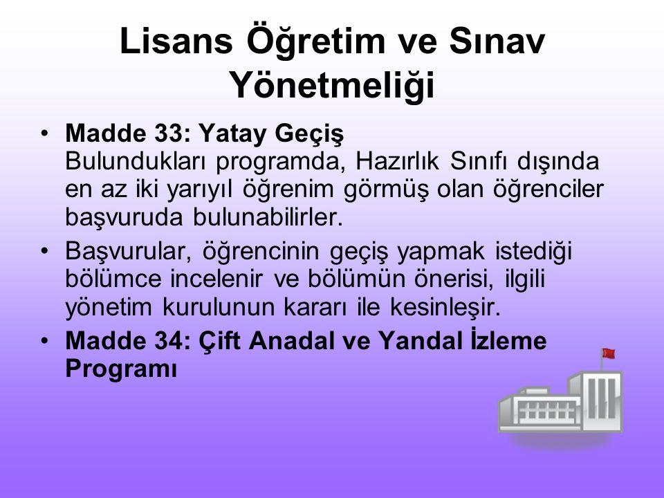 Lisans Öğretim ve Sınav Yönetmeliği Madde 32: Anlaşmalı Yurt Dışı Üniversitelere Gönderilen Öğrenciler Fatih Üniversitesi ile yurt dışındaki üniversit