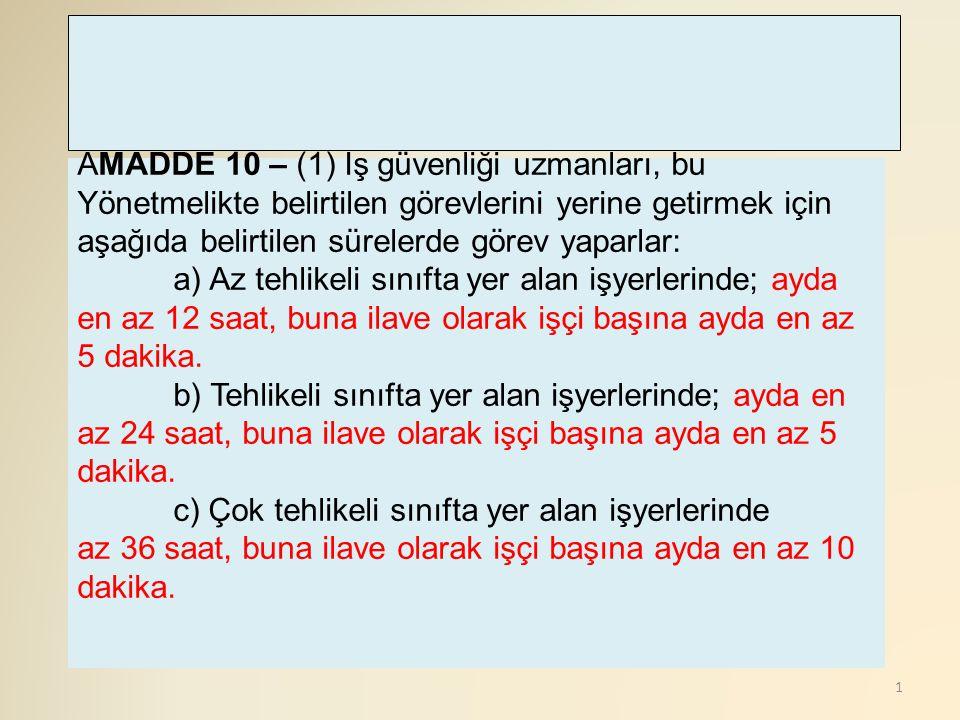 12 A(5) Teorik ve uygulamalı dersler haftanın günlerine dengeli olarak dağıtılır.