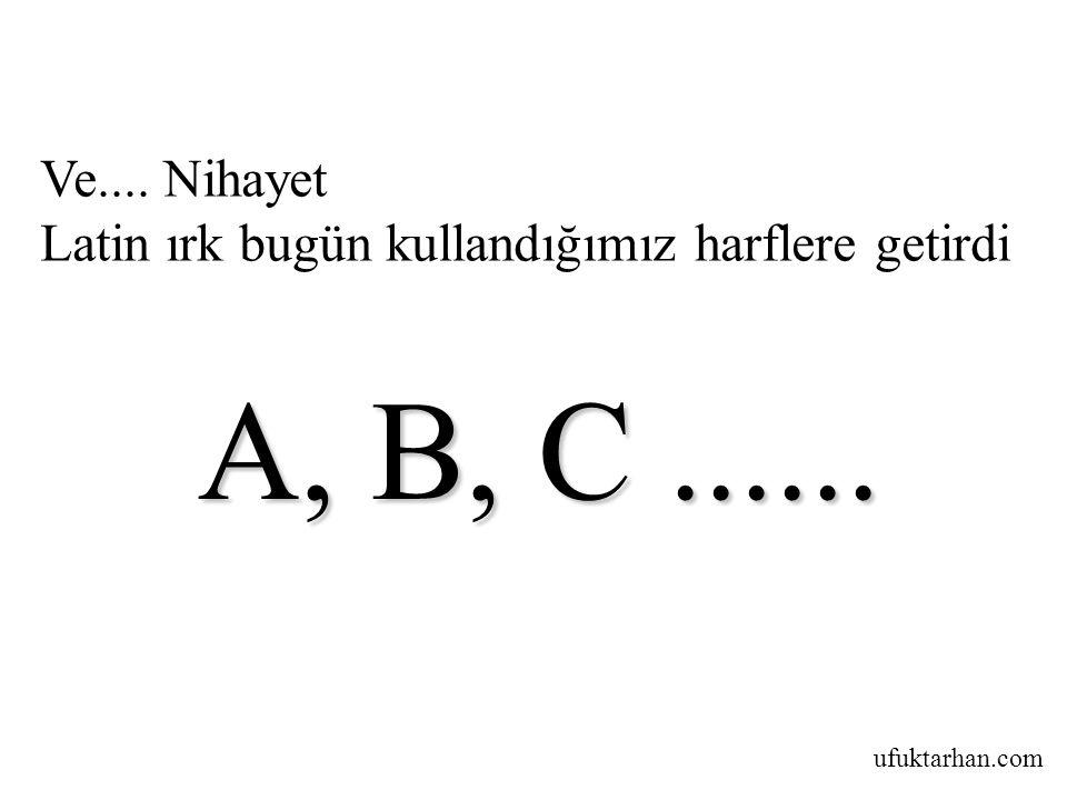ufuktarhan.com Ve.... Nihayet Latin ırk bugün kullandığımız harflere getirdi A, B, C...... A, B, C......