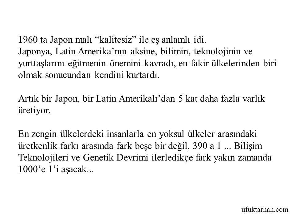 """ufuktarhan.com 1960 ta Japon malı """"kalitesiz"""" ile eş anlamlı idi. Japonya, Latin Amerika'nın aksine, bilimin, teknolojinin ve yurttaşlarını eğitmenin"""