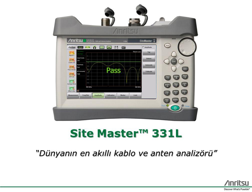 Site Master™ 331L Dünyanın en akıllı kablo ve anten analizörü