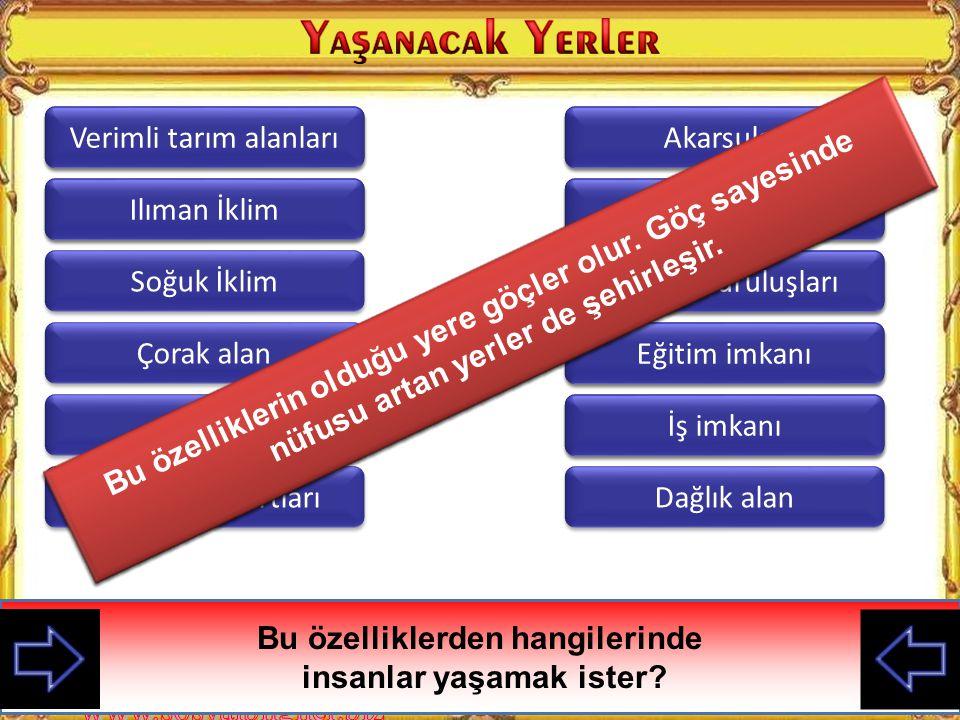 Türkiye'de nüfusun dağılışı her tarafta aynı mıdır? Yaşadığınız ilin nüfusunu komşu illerle karşılaştırınız