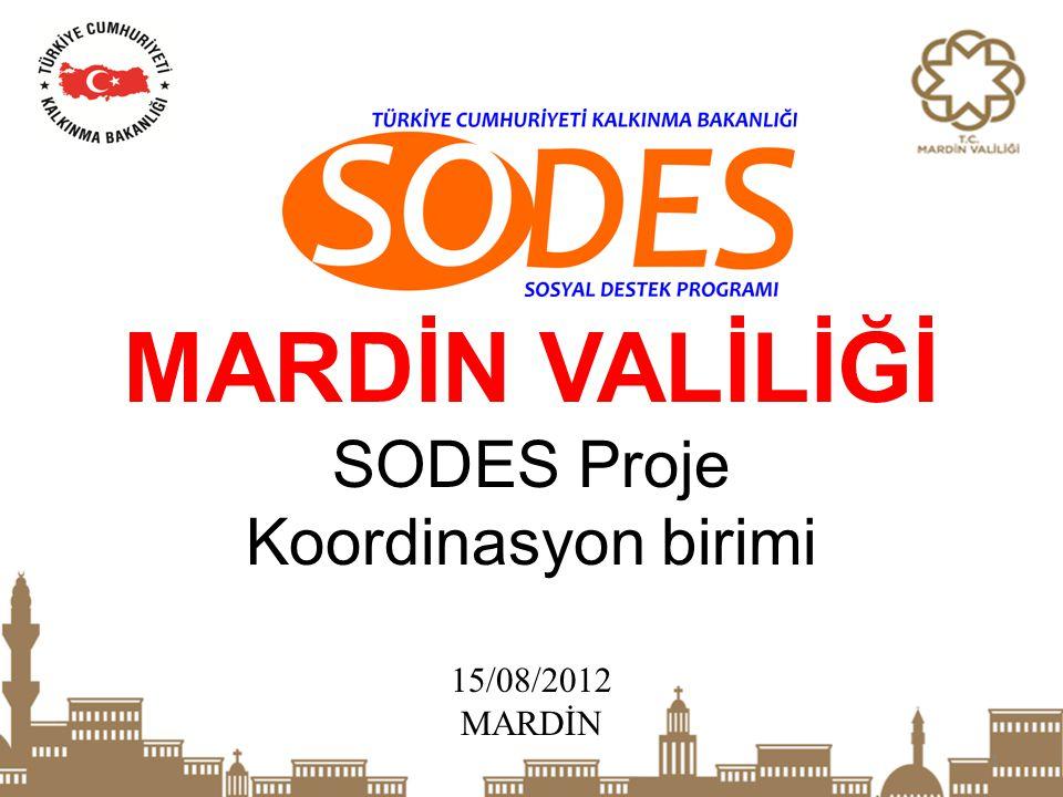 1 MARDİN VALİLİĞİ SODES Proje Koordinasyon birimi 15/08/2012 MARDİN