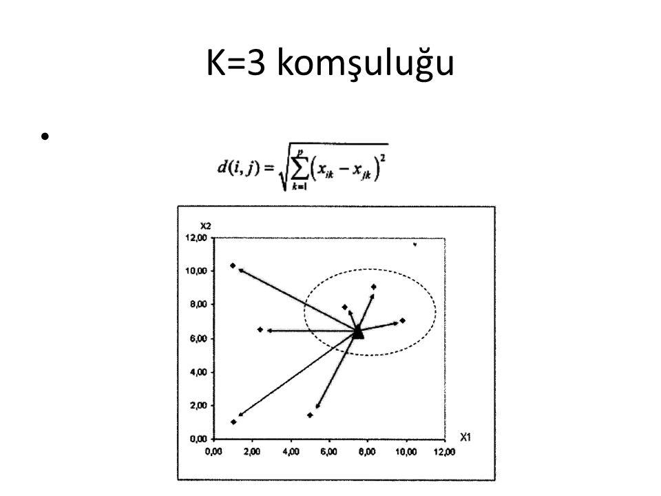 K=3 komşuluğu