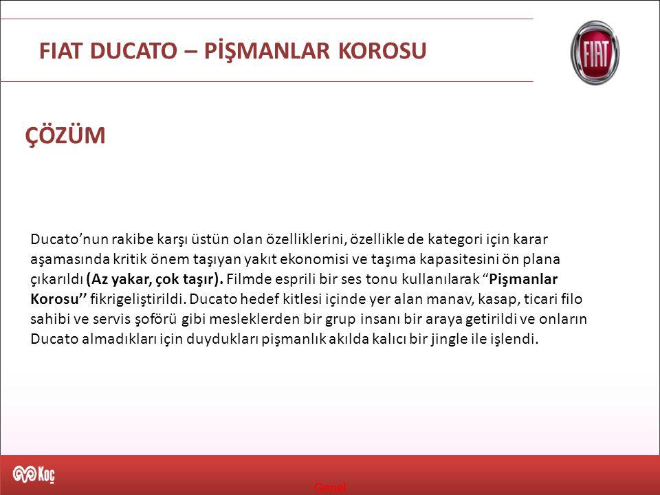 Genel FIAT DUCATO – PİŞMANLAR KOROSU ÇÖZÜM Ducato'nun rakibe karşı üstün olan özelliklerini, özellikle de kategori için karar aşamasında kritik önem t