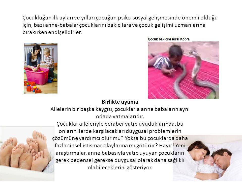 Çocukluğun ilk ayları ve yılları çocuğun psiko-sosyal gelişmesinde önemli olduğu için, bazı anne-babalar çocuklarını bakıcılara ve çocuk gelişimi uzma