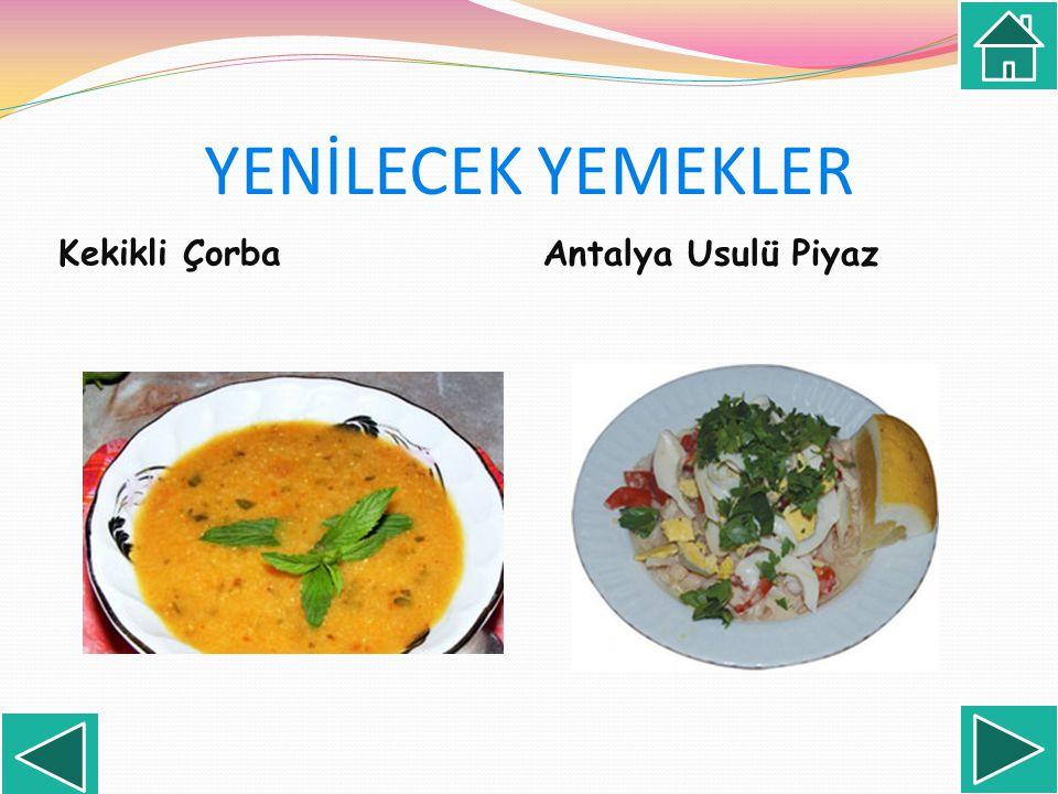Kekikli Çorba Antalya Usulü Piyaz
