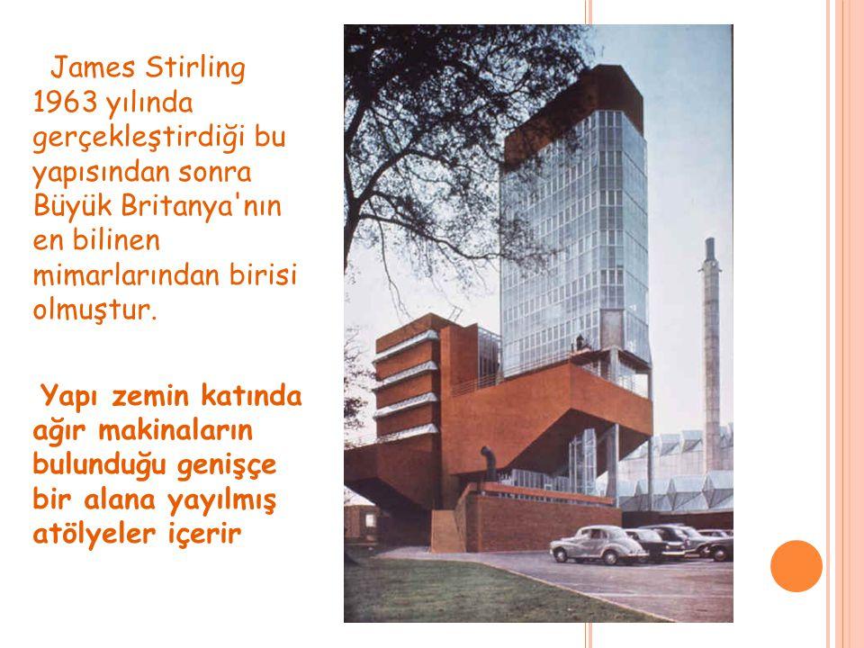 James Stirling 1963 yılında gerçekleştirdiği bu yapısından sonra Büyük Britanya'nın en bilinen mimarlarından birisi olmuştur. Yapı zemin katında ağır